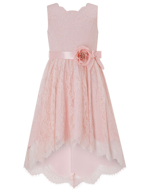 Becky Lace Scalloped Occasion Dress, Pink (PINK), large