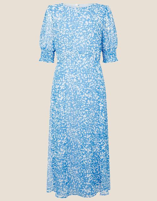Annabelle Animal Midi Dress, Blue (BLUE), large