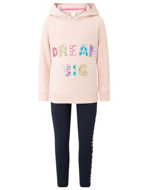 DREAM BIG Hoody and Leggings Set, Pink (PALE PINK), large