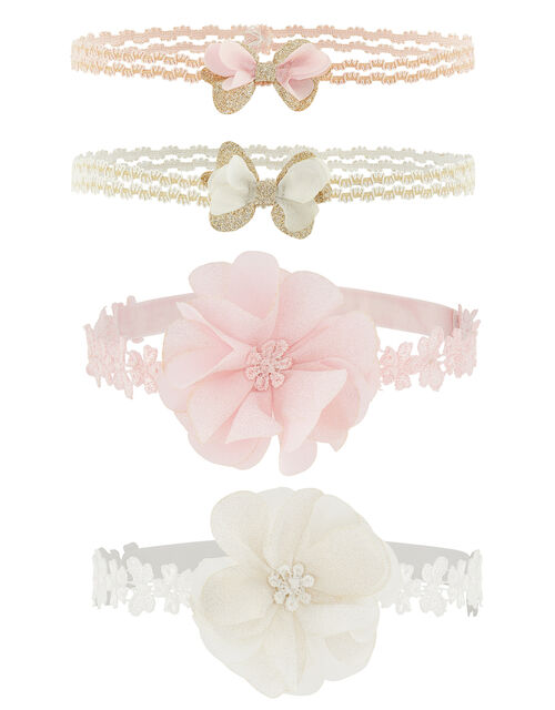 Baby Flower and Glitter Bando Headband Multipack, , large