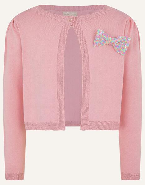Rainbow Sequin Bow Bolero Pink, Pink (PINK), large