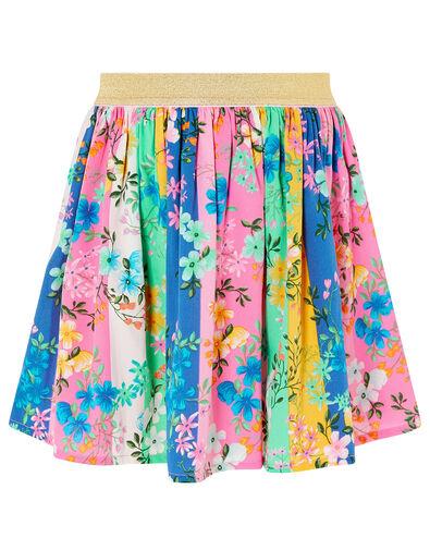 Stripe Floral Skirt Multi, Multi (MULTI), large