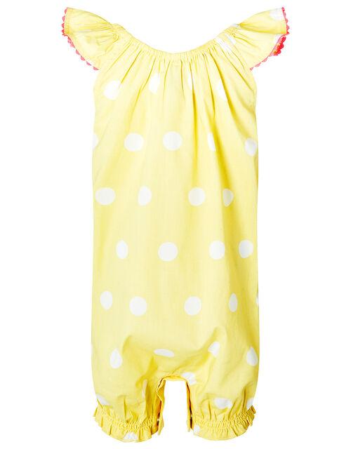 Newborn Baby Ice Cream Romper in Organic Cotton, Yellow (YELLOW), large