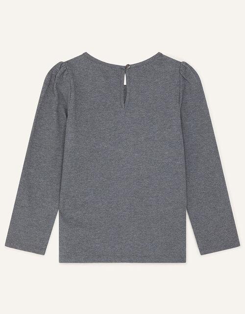 Sequin Shoulder Top, Grey (CHARCOAL), large