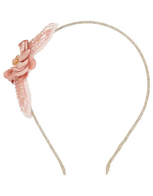 Sparkle Bead Flower Headband, , large