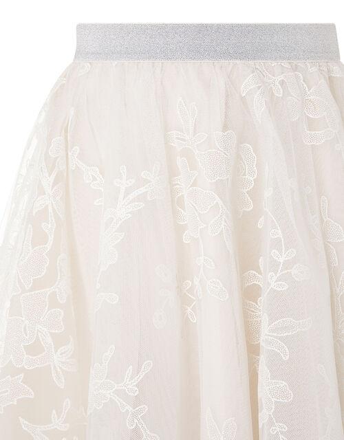 Princesca Sparkle Tulle Hanky Hem Skirt, Natural (CHAMPAGNE), large