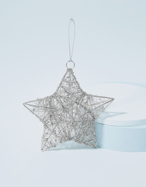 Wire Wrapped Star Hanging Decoration, , large