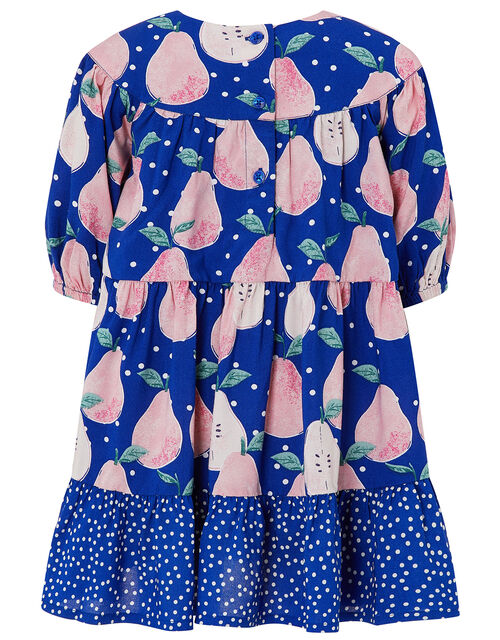 Baby Pear Printed Dress in LENZING™ ECOVERO™, Blue (BLUE), large
