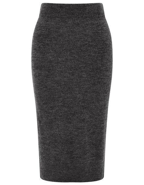 LOUNGE Knit Midi Skirt, Grey (CHARCOAL), large
