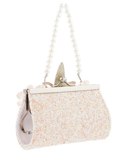 Flutter Unicorn Glitter Mini Bag, , large