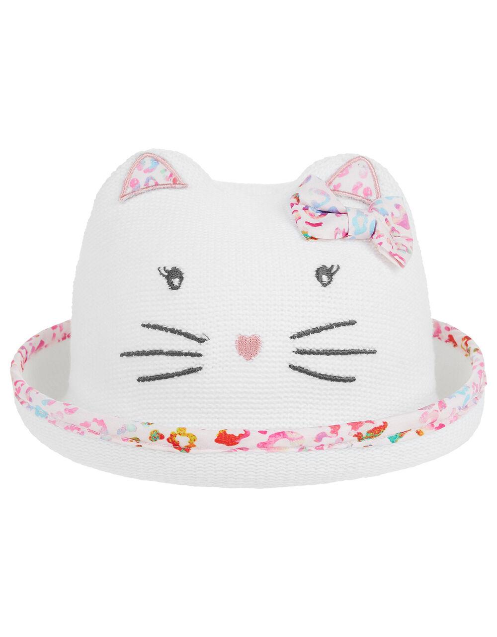 Baby Debbie Kitty Bowler Hat in Organic Cotton, Multi (MULTI), large