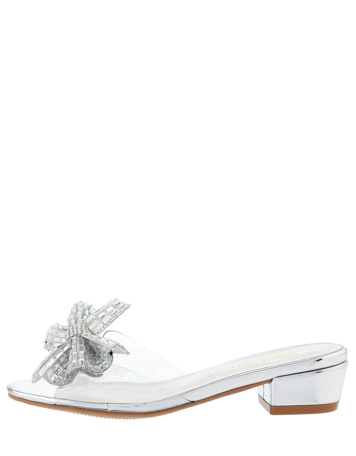Princess Dazzle Slipper Sandals Silver