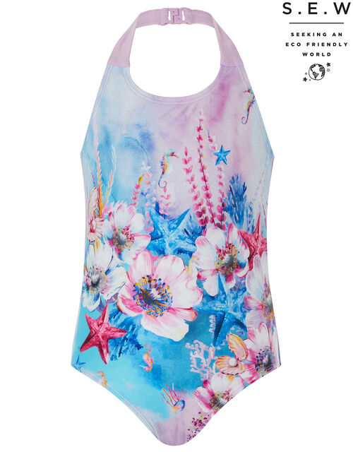 Tasmin Printed Swimsuit with Recycled Polyester, Multi (MULTI), large