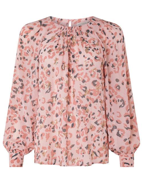 Ola Animal Embellished Top, Pink (BLUSH), large
