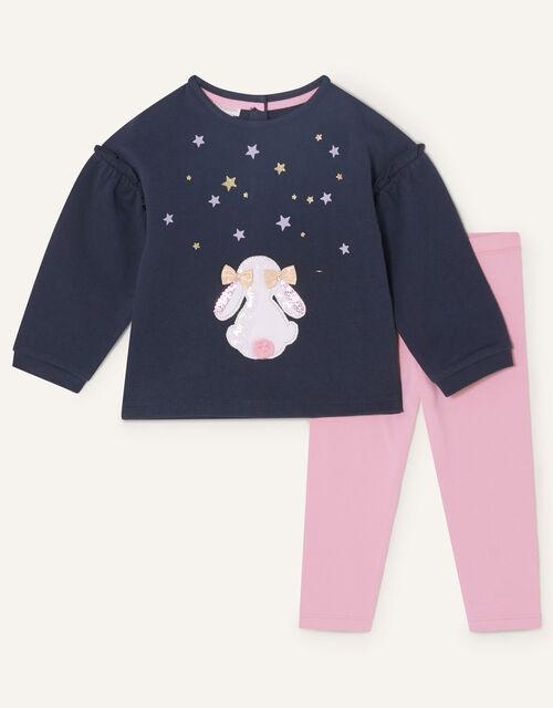 Baby Bunny Jersey Set, Blue (NAVY), large