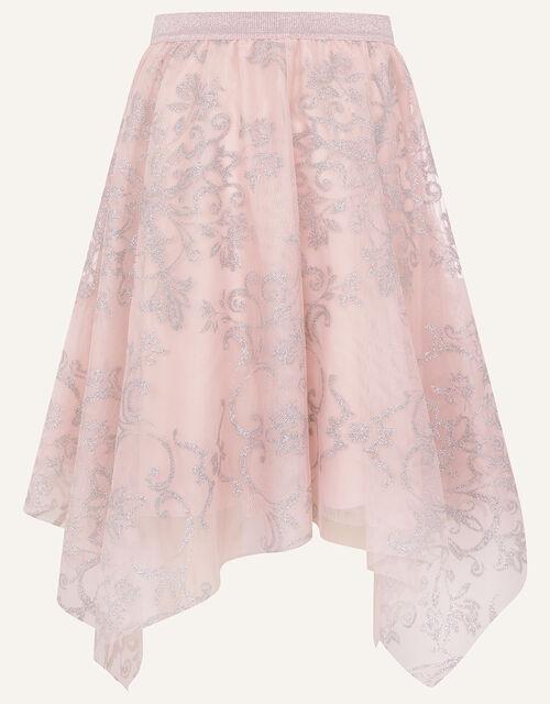 Princessa Hanky Hem Skirt , Pink (DUSKY PINK), large