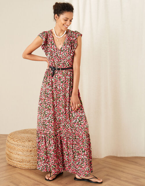 Fable Floral Jersey Maxi Dress, Pink (PINK), large