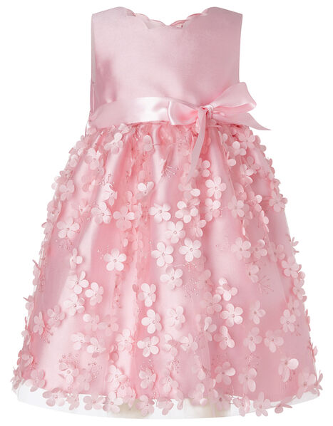 3D Flower Dress Pink, Pink (DUSKY PINK), large