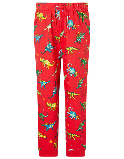 XMAS Dinosaur Pyjama Set, Red (RED), large