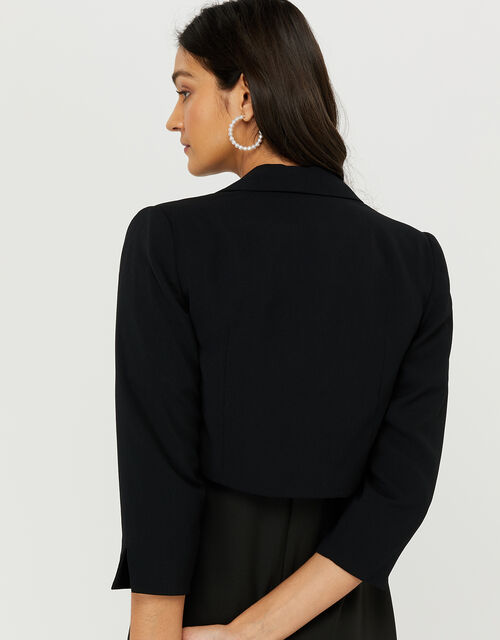 Juni Cropped Jacket, Black (BLACK), large
