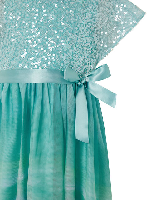 Mermaid Sequin Ombre Maxi Dress, Blue (BLUE), large