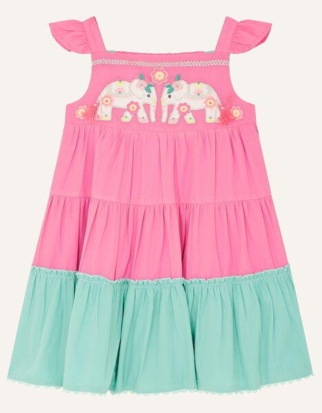 Baby Elephant Colourblock Dress Pink, Pink (PINK), large