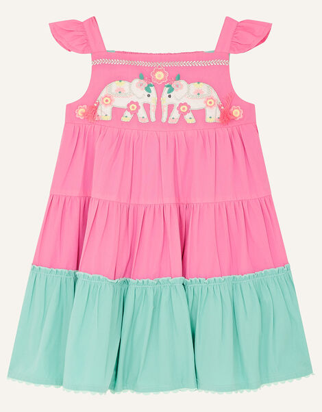 Baby Elephant Colourblock Dress Pink, Pink (PINK), large
