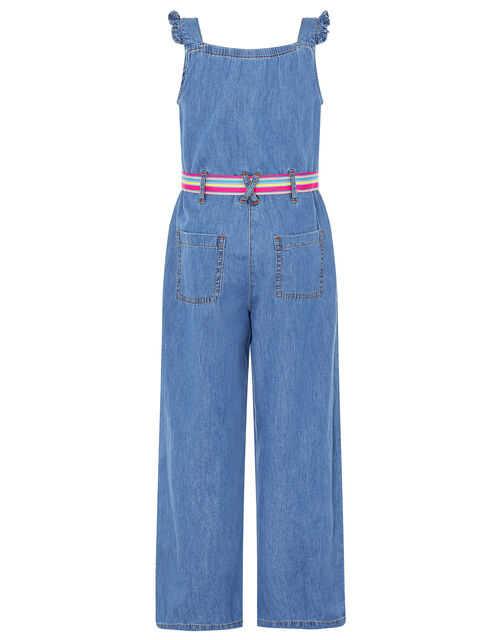 Delilah Denim Jumpsuit, Blue (BLUE), large