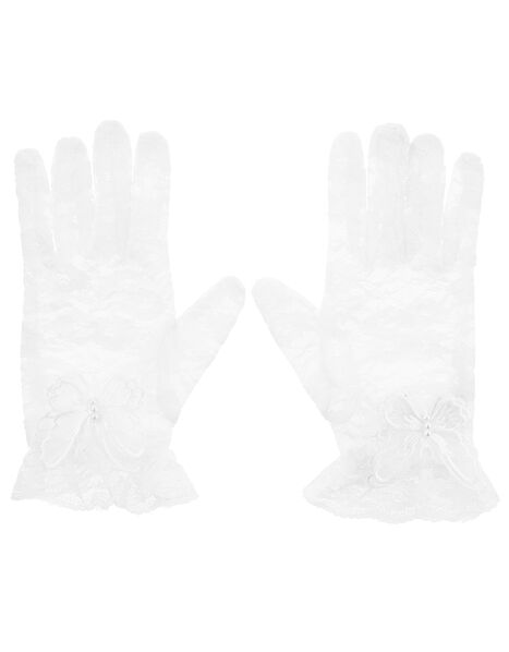Organza Butterfly Lace Gloves, , large