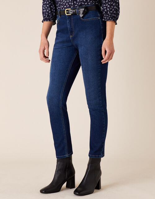 Sophie Straight Leg Jeans with Organic Cotton, Blue (DENIM BLUE), large