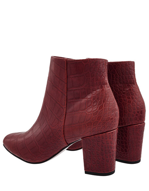 Cindy Croc Ankle Boots, Red (BURGUNDY), large