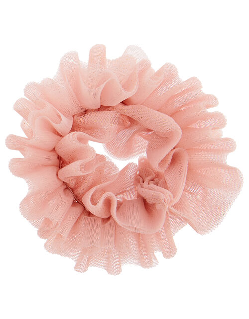 Ballet Ruffle Glitter Hair Scrunchie, , large