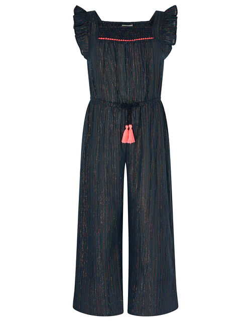 Sparkle Stripe Jumpsuit, Blue (BLUE), large