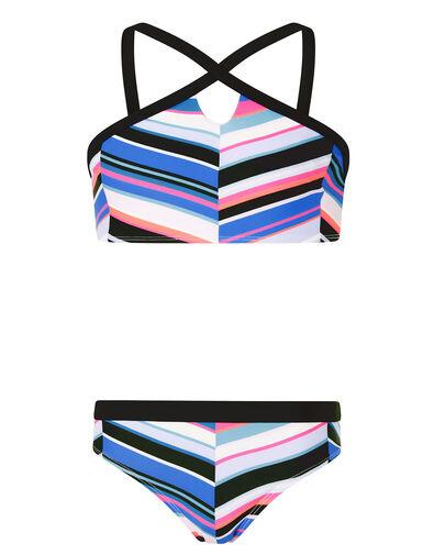 Stripe Print Bikini Set Blue, Blue (BLUE), large