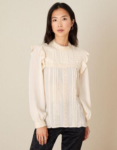 Victoriana Long Sleeve Blouse  Cream, Cream (CREAM), large