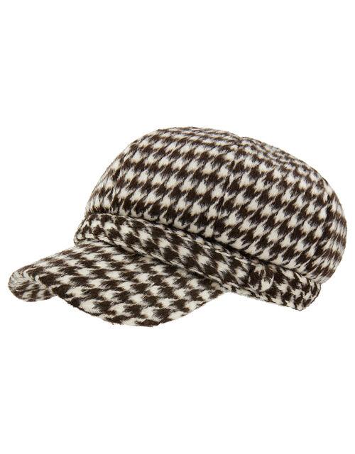 Bay Houndstooth Baker Boy Hat, , large