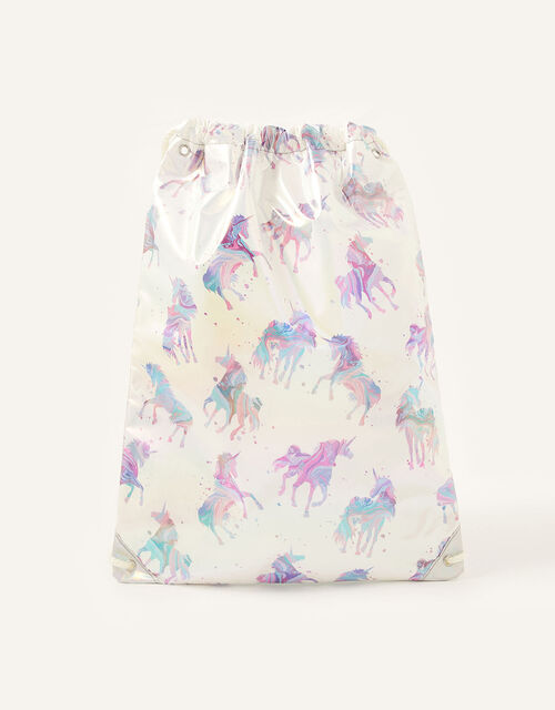 Shimmer Marble Unicorn Drawstring Bag , , large