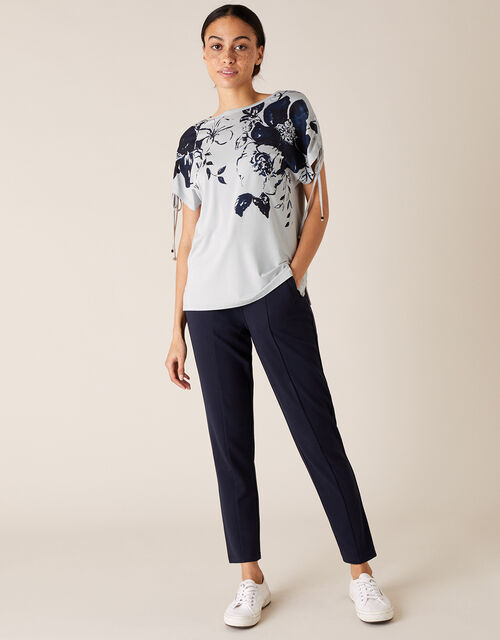 LOUNGE Pia Floral T-Shirt, Grey (GREY), large