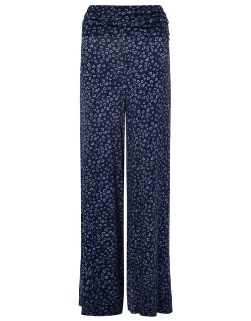 LOUNGE Carter Animal Print Jersey Trousers, Blue (BLUE), large