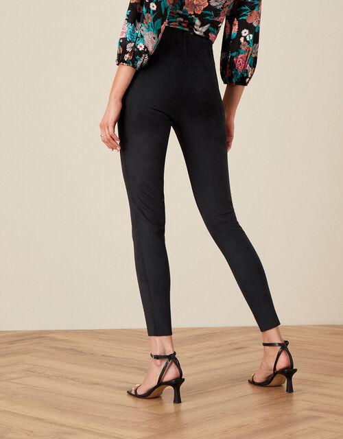 Cecily Suedette Leggings, Black (BLACK), large