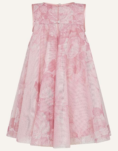 Baby Lara Rose Print Flare Dress, Pink (PINK), large