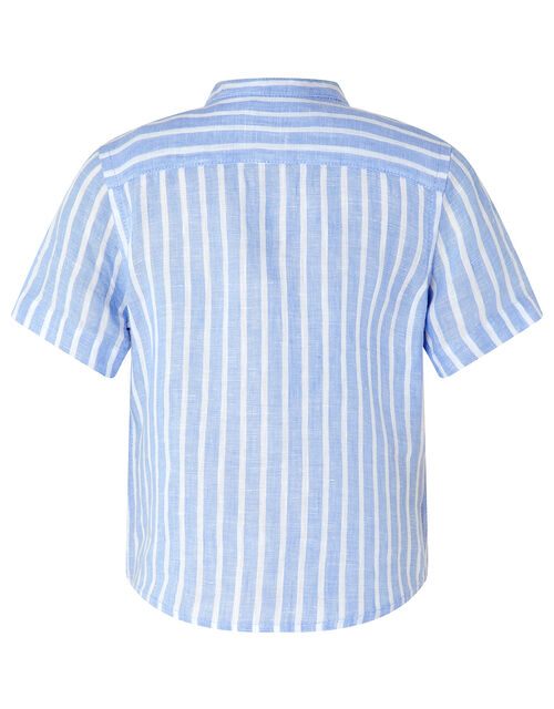 Sonny Stripe Shirt and Shorts Set, Blue (BLUE), large