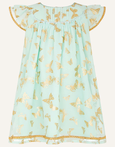 Baby Foil Butterfly Print Dress Green, Green (GREEN), large