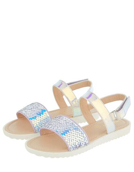 Mermaid Sequin Sandals Multi, Multi (MULTI), large