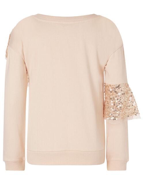 Sequin Sweatshirt and Skirt Set, Gold (ROSE GOLD), large