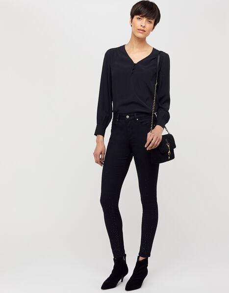 Nadine Sparkle Jeans Black, Black (BLACK), large