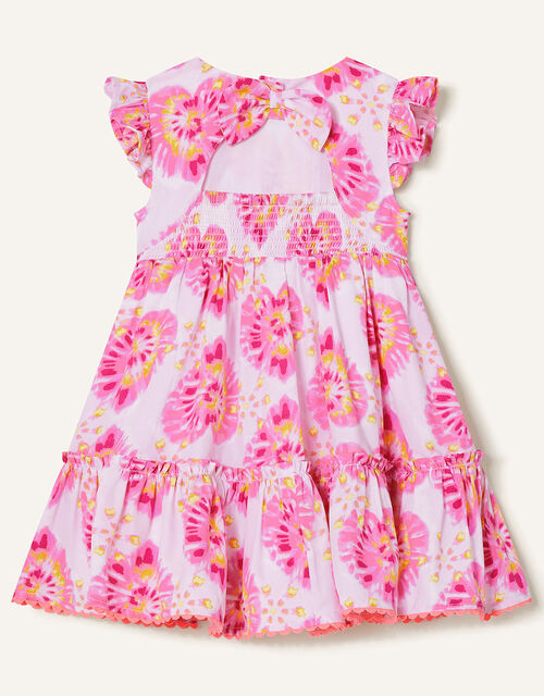 Baby Tie Dye Heart Dress , Ivory (IVORY), large