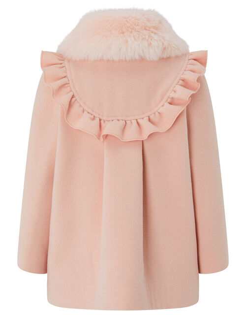 Baby Frill and Bow Coat, Pink (PALE PINK), large