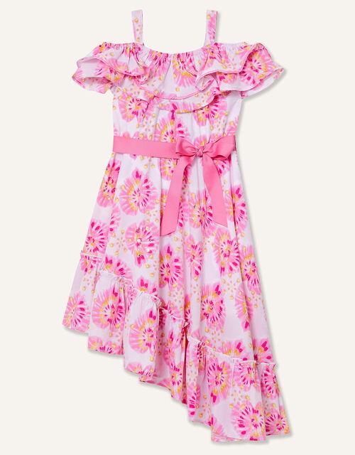 Tie Dye Heart Asymmetric Dress , Ivory (IVORY), large