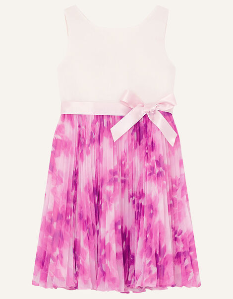 Nixie Floral Pleated Dress Pink, Pink (PINK), large